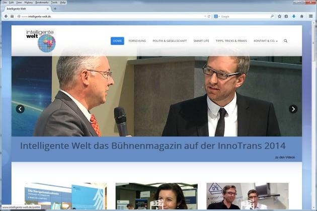 Intelligente Welt das Bühnenmagazin auf der InnoTrans 2014