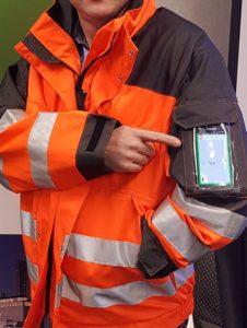 Smartphone in Safety Wear