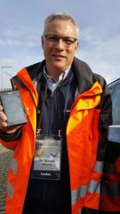 Thomas Strang showcasing the App